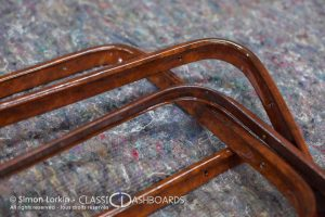 1930s Citroen Traction - Metal Restoration - Wood effect for dashboards, door cappings and window surrounds.