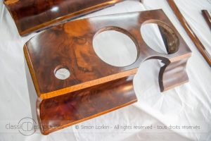 Classic car woodwork restoration by British craftsman dashboard restorer Simon Lorkin, based in France - Jaguar MKII -