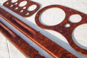 Classic car woodwork restoration by British craftsman dashboard restorer Simon Lorkin, based in France - Classic Dashboards France